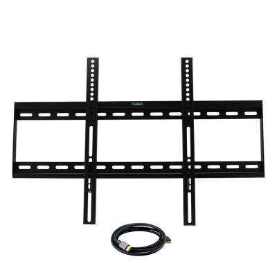 32 in. x 55 in. Television Wall Mount with HDMI Cable in Black