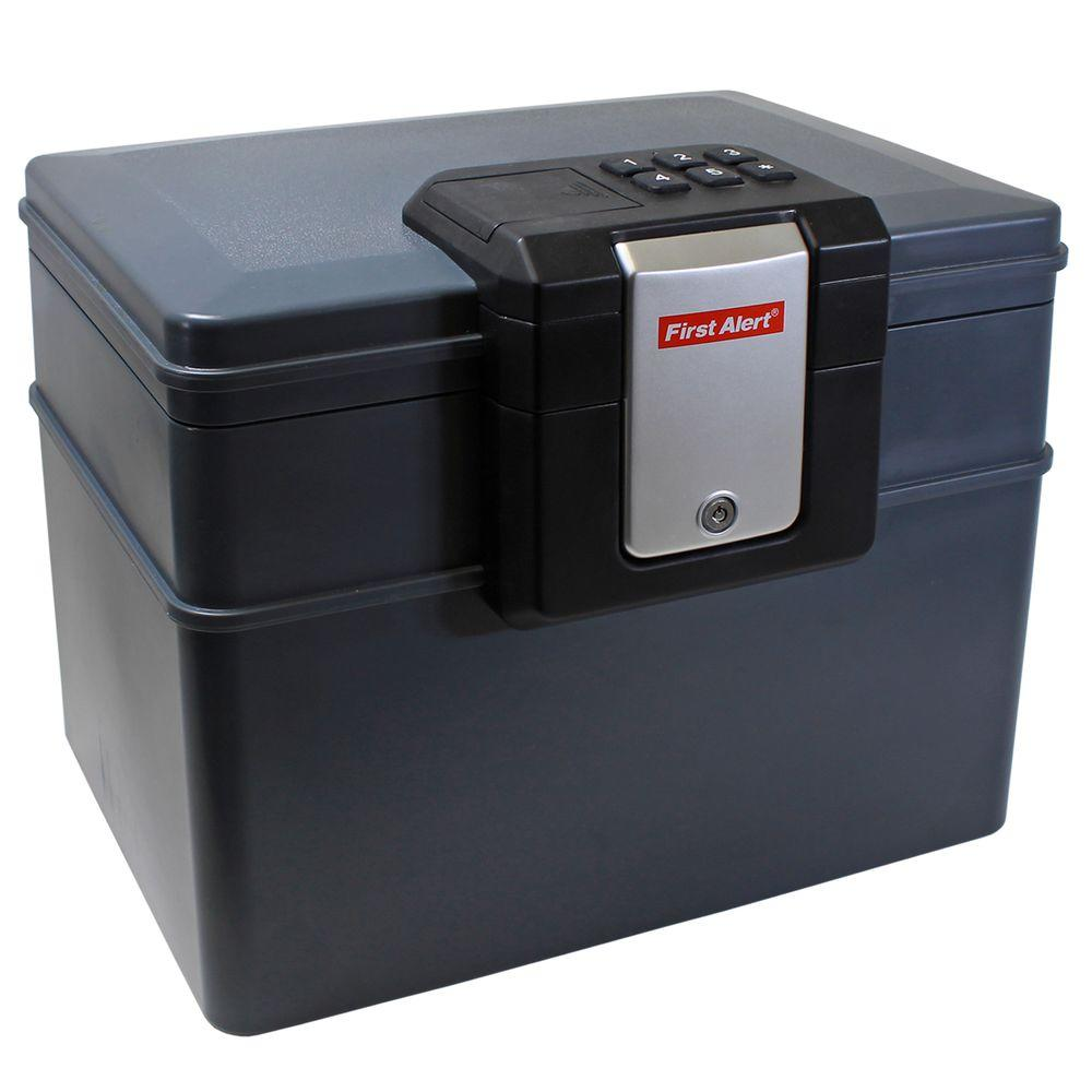 Resin Fire Resistant/Waterproof File Safe with Electronic Lock Grey-2603DF - The Home Depot  sc 1 st  Home Depot : file safe box - Aboutintivar.Com