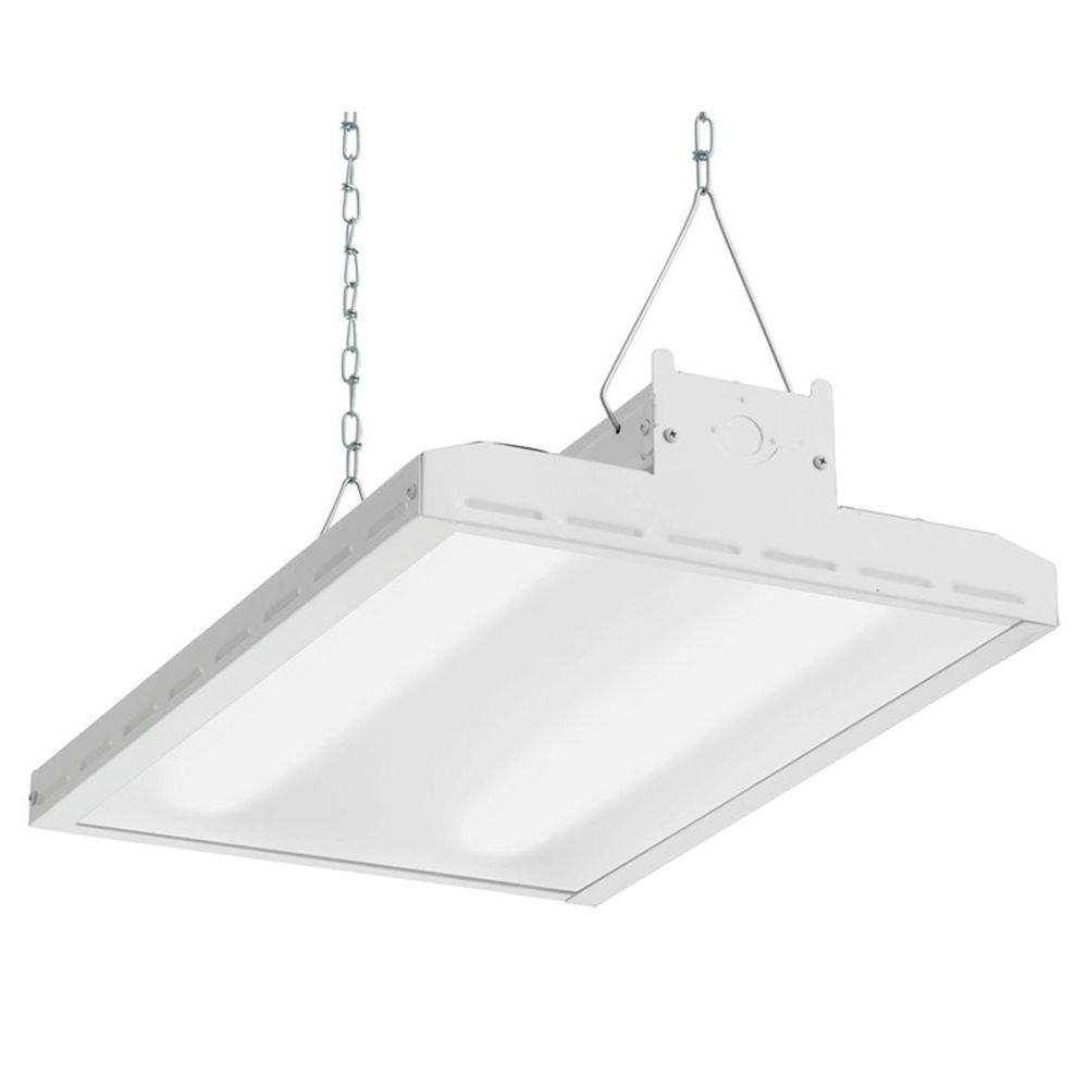 Lithonia Lighting 2.8 ft. 34-Watt White Integrated LED Shop Light ...