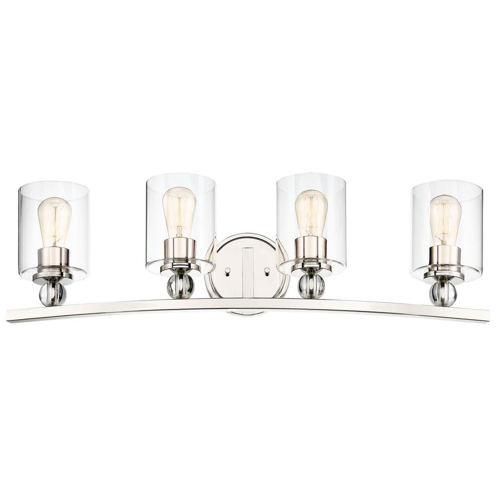 Studio 5 4-Light Polished Nickel Bath Vanity Light