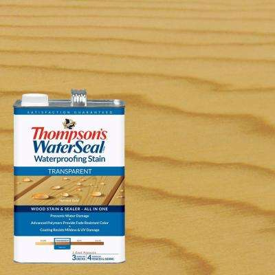 1 gal. Transparent Harvest Gold Waterproofing Stain Exterior Wood (4-Pack)