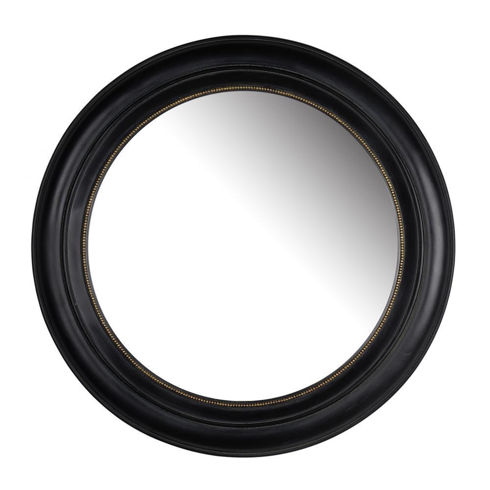 20.5 in. Black Sable Round Mirror
