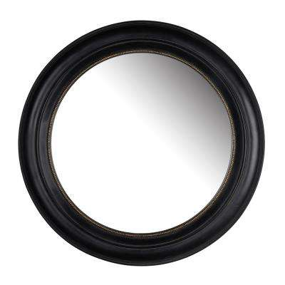 20.5 in. Black Sable Round Mirror