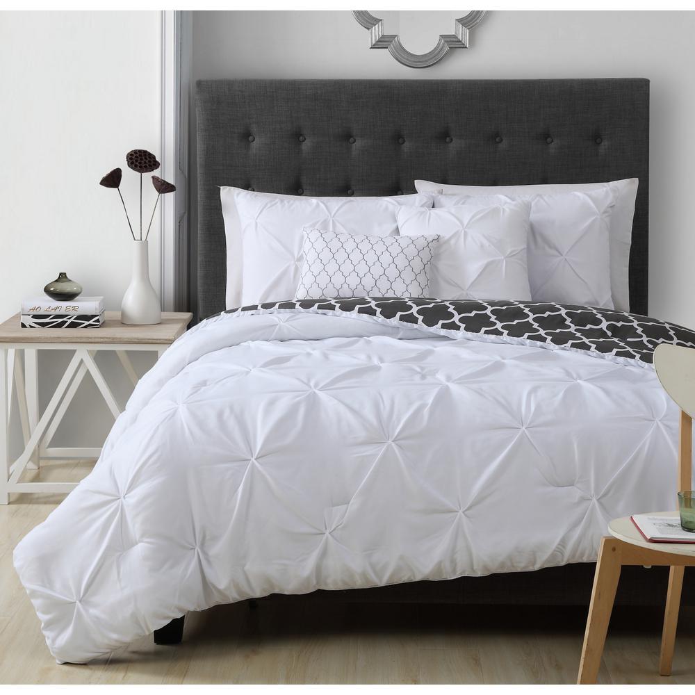 Madrid 5-Piece White Queen Comforter Set