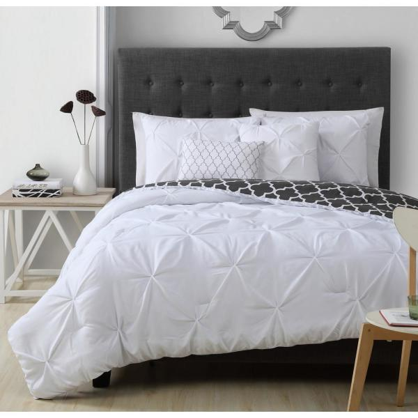 Geneva Home Fashion Madrid 5-Piece White Queen Comforter Set MRD5CSQUENGHWH