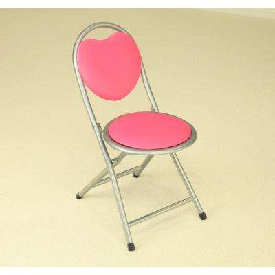 Pink Folding Kids Chair