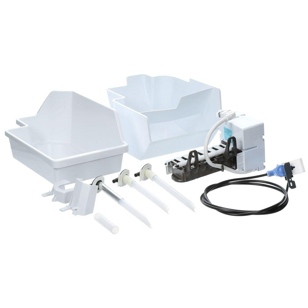 4 lbs. Built-in Ice Maker Kit for Top Mount Refrigerators in