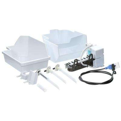 4 lbs. Built-in Ice Maker Kit for Top Mount Refrigerators in White