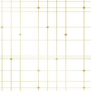 Bobby Berk Thermoscad Metallic Gold/White Self-Adhesive Removable Wallpaper