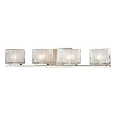 Palisades 4-Light Brushed Nickel Bath Light