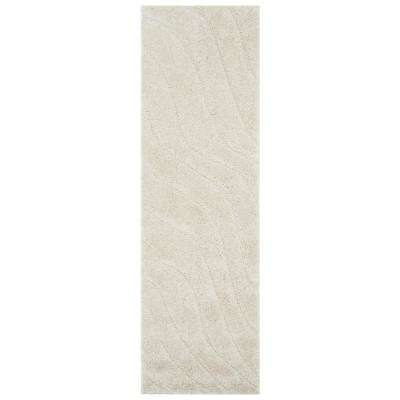 Florida Shag Cream 2 ft. x 7 ft. Runner Rug