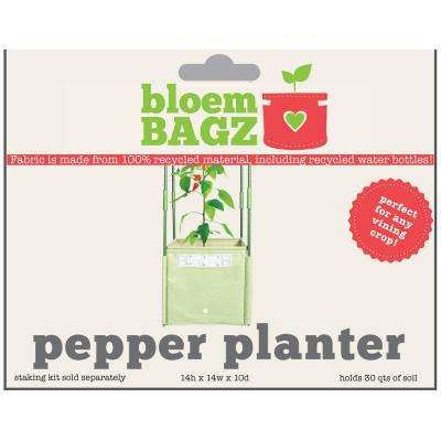 BloemBagz Pepper Planter Grow Bag 8 Gallon Living Green