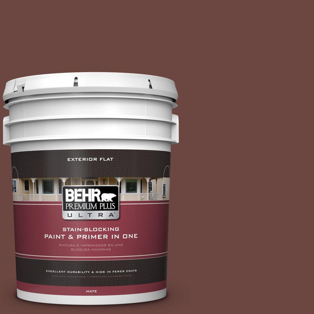 BEHR Premium Plus Ultra 5-gal. #S-G-720 Fireside Flat Exterior Paint
