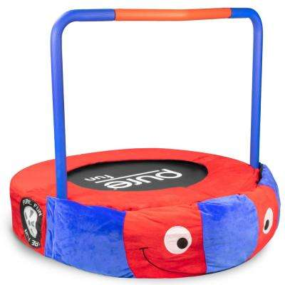 36 in. Race Car Kids Trampoline with Handrail