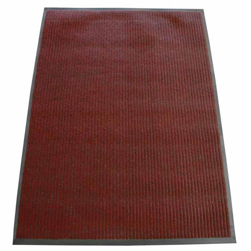 Ribbed Polypropylene Red 3 Ft. X 4 Ft. Polypropylene Carpet Mat