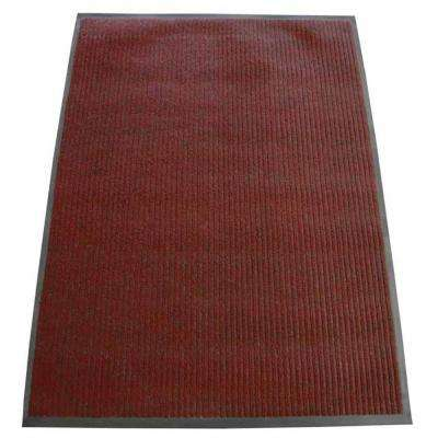 Ribbed Polypropylene Red 4 ft. x 8 ft. Polypropylene Carpet Mat