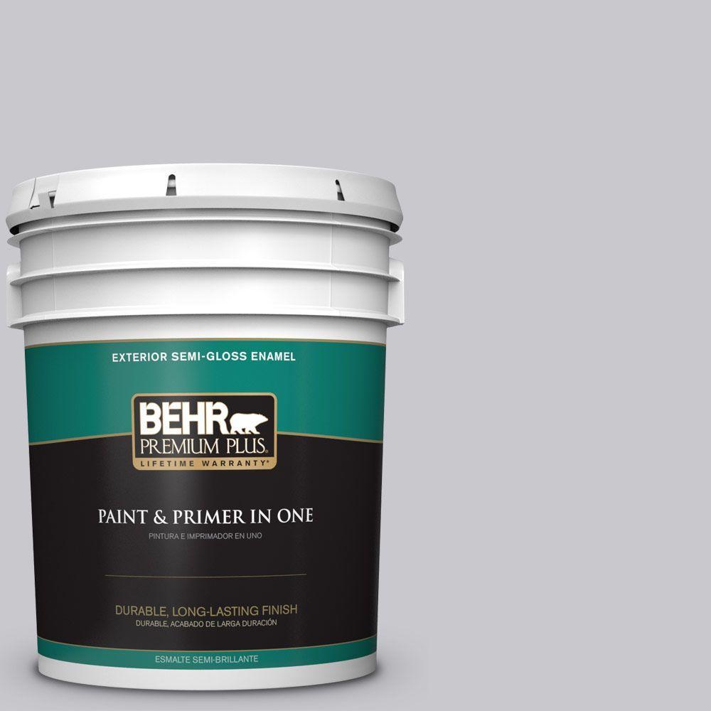5-gal. #ECC-62-1 Urban Gray Semi-Gloss Enamel Exterior Paint