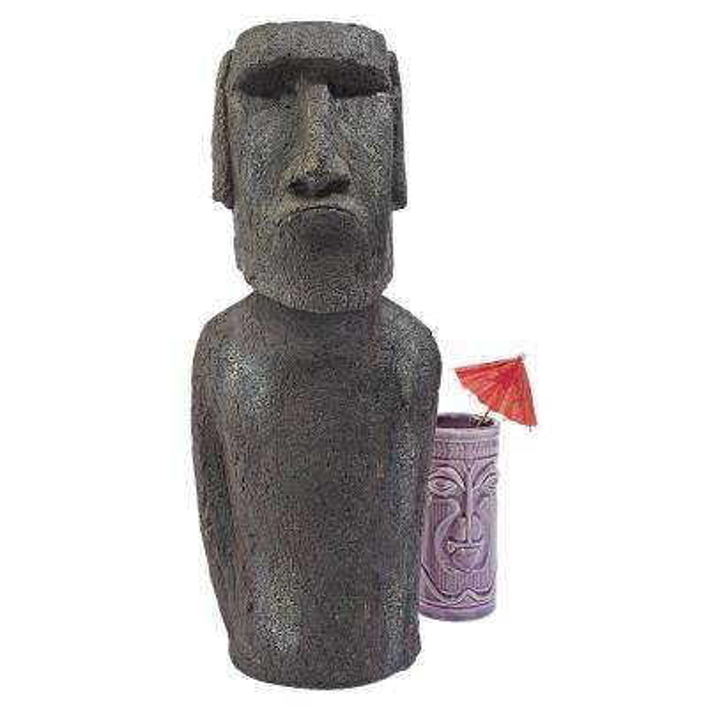 16 in. H Easter Island Ahu Akivi Moai Monolith Small Garden Statue
