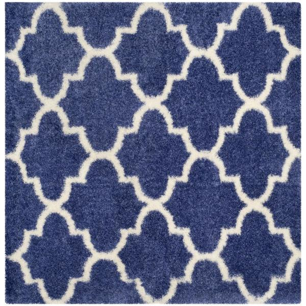 Safavieh Montreal Shag Periwinkle Ivory 7 Ft X 7 Ft Square Area Rug Sgm832p 7sq The Home Depot