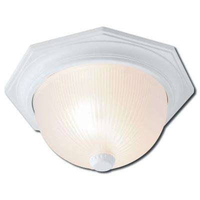 Monterey Flush Mount 2-Light Outdoor White Lamp