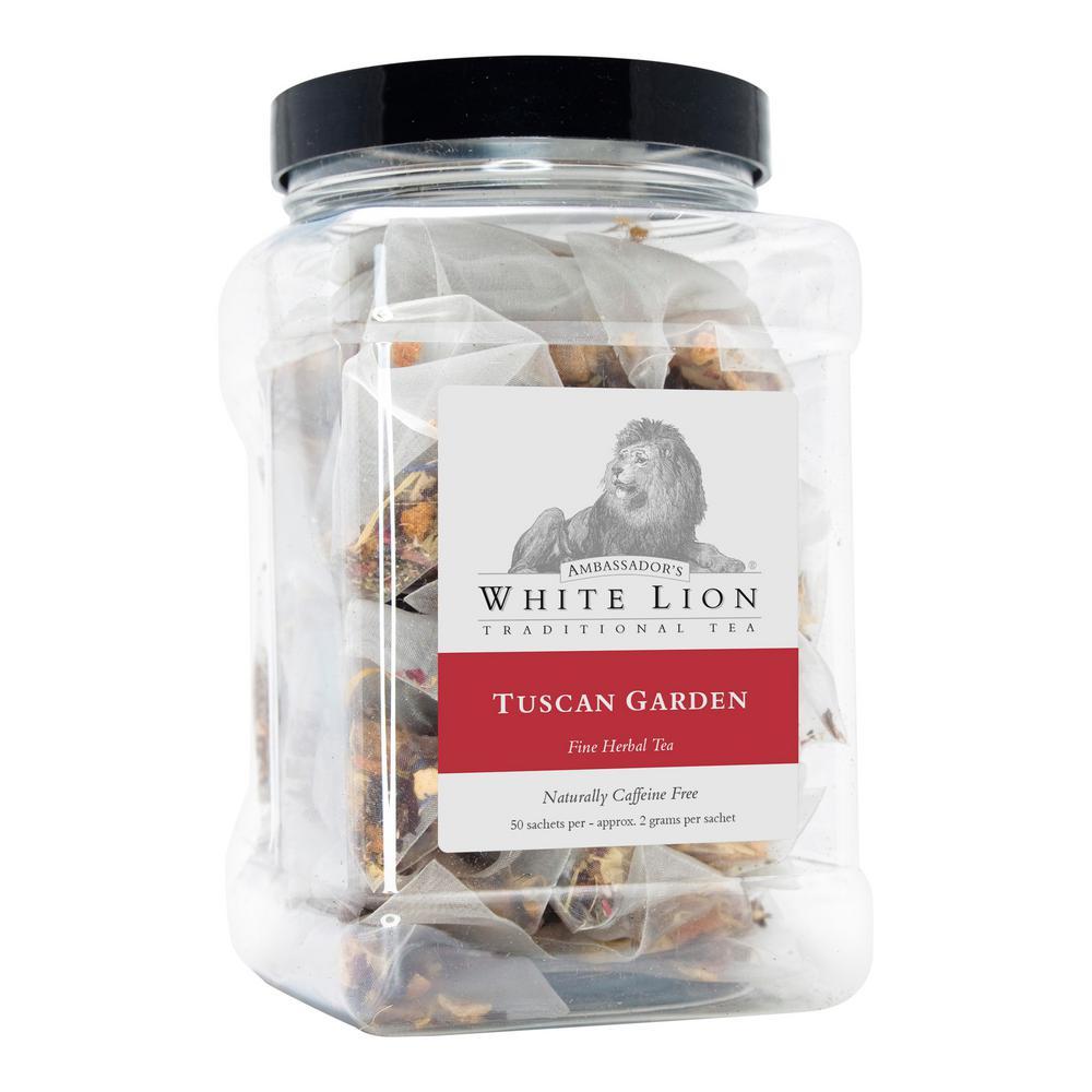 White Lion Tea Tuscan Garden 50 Bulk Sachets Food Service Canister Bags