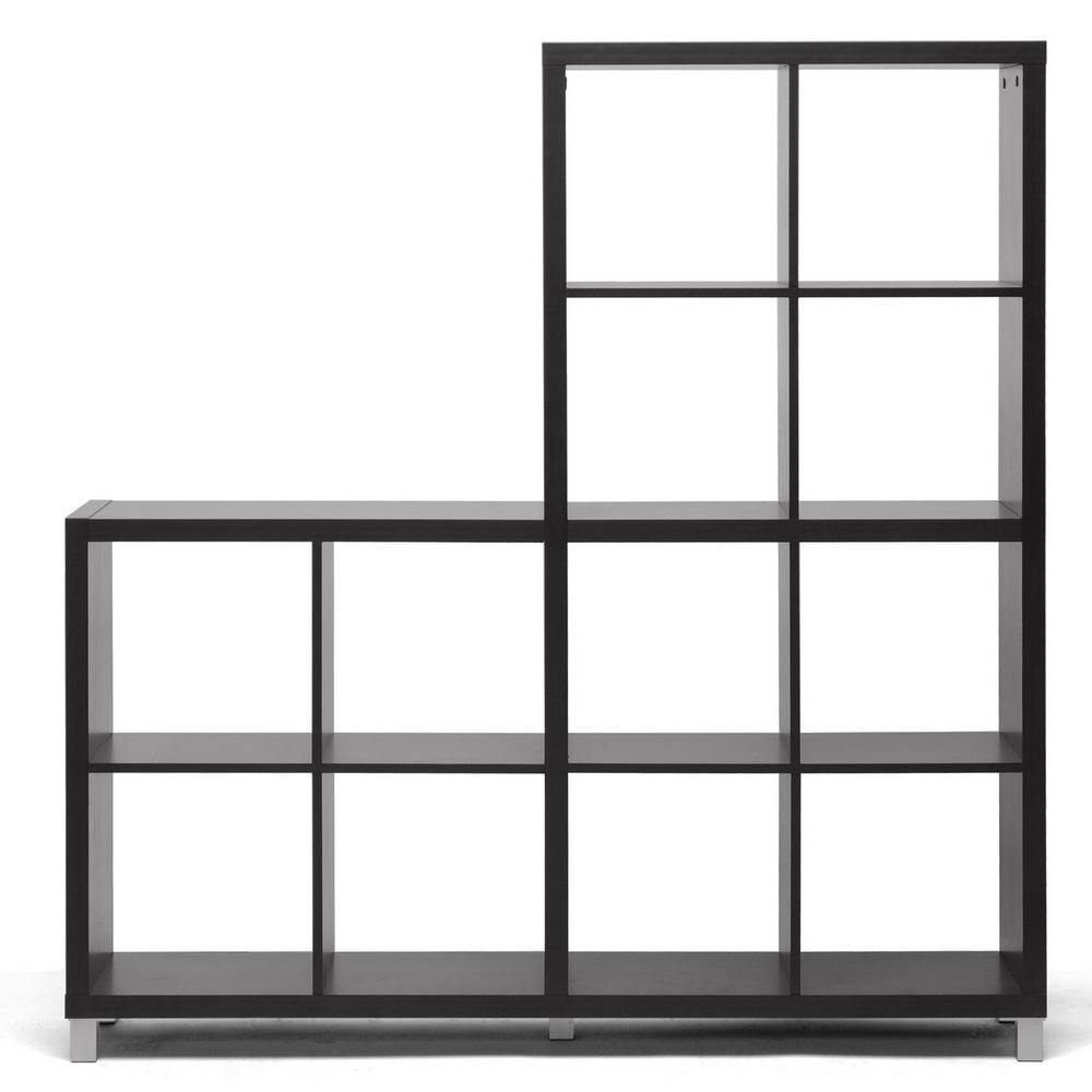 Baxton Studio Sunna Dark Brown Open Bookcase 28862-4516-HD