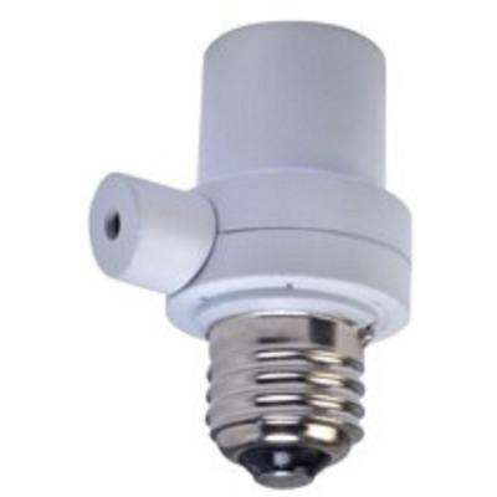 150-Watt Dusk to Dawn Photocell Light Socket Control, White