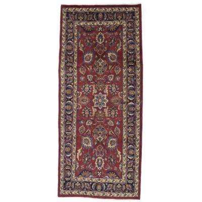 Mashad Red 4 ft. x 9 ft. Area Rug