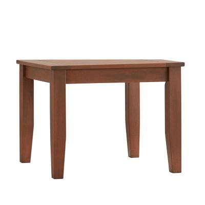 Verdon Gorge Brown Rectangle Oiled Wood Outdoor End Table