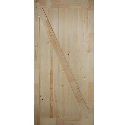 36 in. x 83.5 in. Kimberly Bay Z-Rail Unfinished Solid Core Pine Barn Door Slab