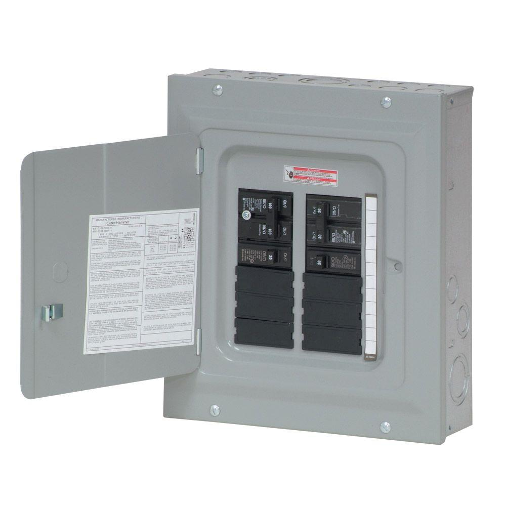 eaton br 100 amp 10 space 20 circuit indoor main breaker renovation rh homedepot com install new circuit breaker box wiring up a circuit breaker box