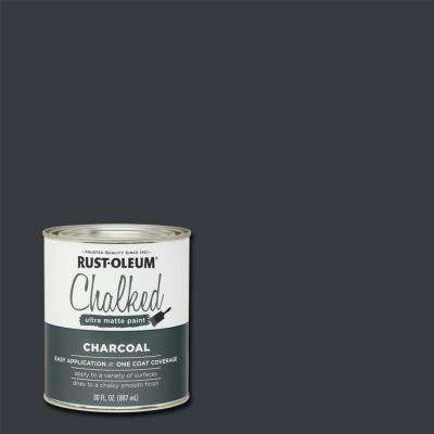 30 oz. Chalked Charcoal Ultra Matte Interior Paint (2-Pack)
