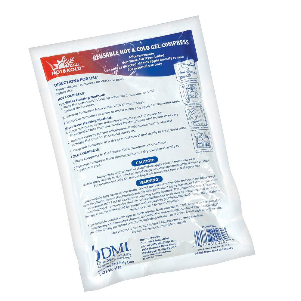 Dmi Sports Hot and cold Reusable Gel Compress Small (24 p...