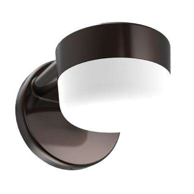 Architectural Bronze Outdoor Integrated LED Entry and Patio Wall Pack Light with Dusk-to-Dawn and 1000 Lumens