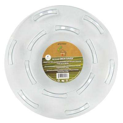 8 in. Deck Saver Recycled Plastic Saucer