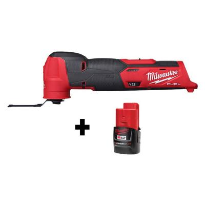 Milwaukee M12 FUEL 12V Cordless Oscillating Multi-Tool + 2.0Ah Battery