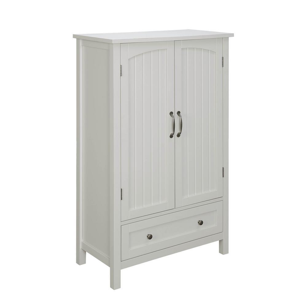 USL Farmhouse White Storage Pantry With Drawer