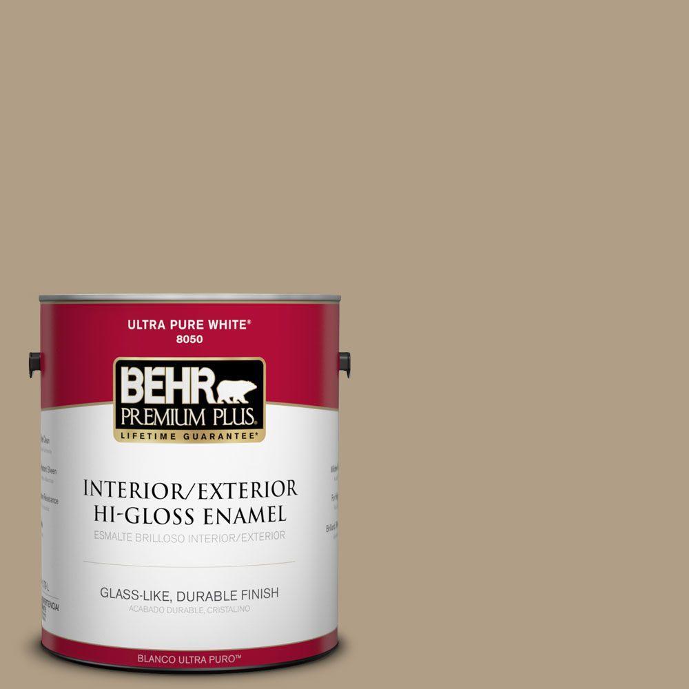 1-gal. #ECC-53-2 Wild Rye Hi-Gloss Enamel Interior/Exterior Paint