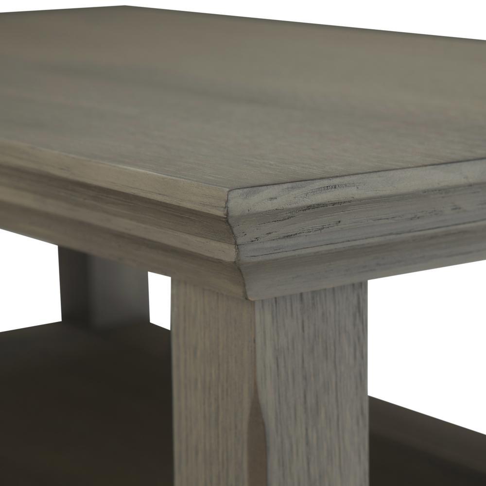Simpli Home Acadian Solid Wood 14 In Wide Rustic Narrow Side