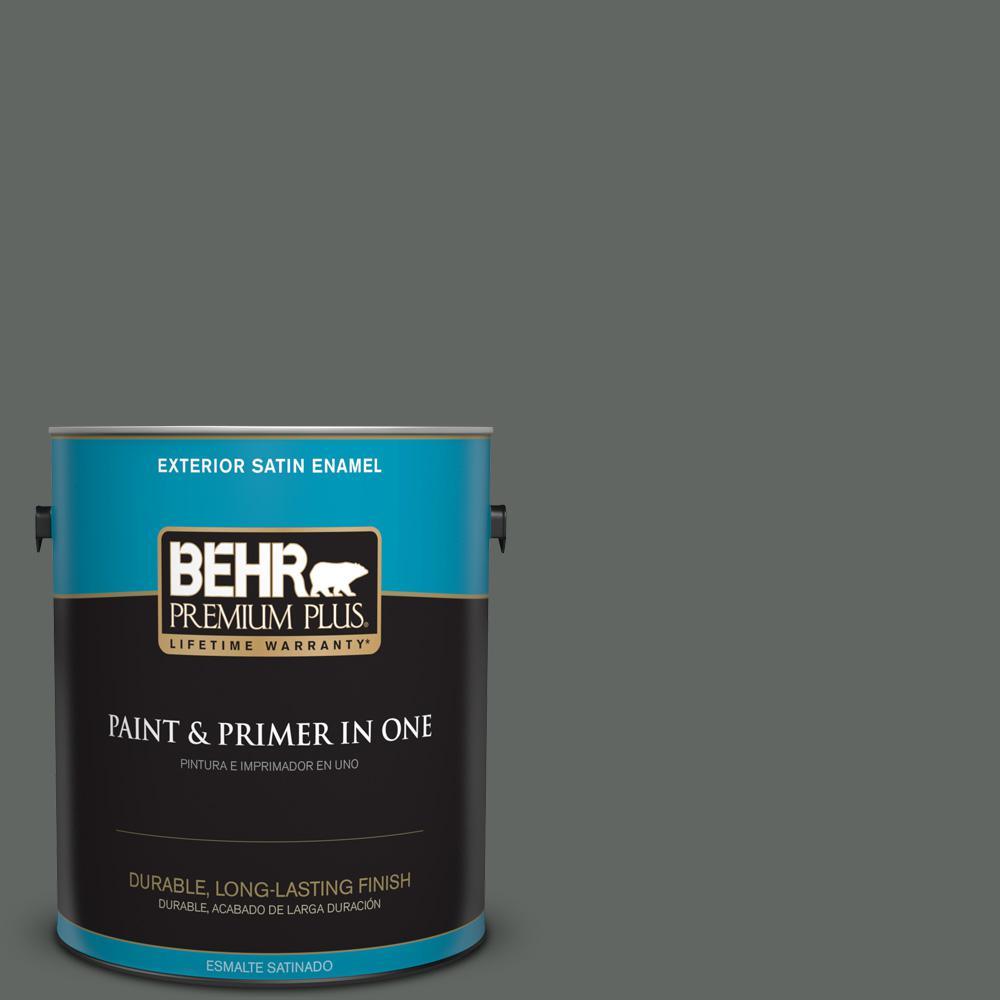 1 gal. #PPU25-02 Black Locust Satin Enamel Exterior Paint