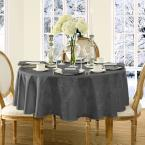 70 in. Round Gray Elrene Barcelona Damask Fabric Tablecloth