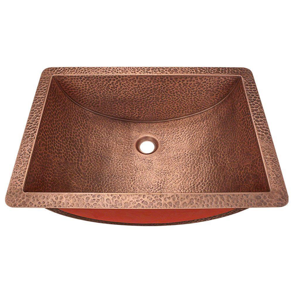 Undermount Bathroom Sink in Copper