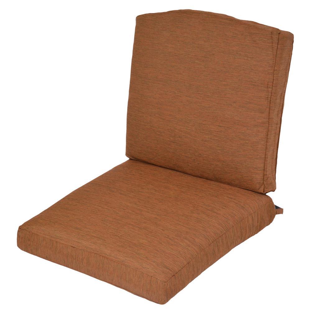 Oak Cliff Cashew Replacement 2-Piece Outdoor Glider Cushion - Cashew - Outdoor Cushions - Patio Furniture - The Home Depot