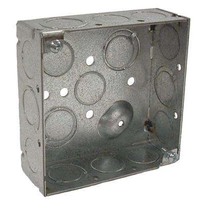 4 in. Square Welded Box, 1-1/2 Deep with 1/2 and 3/4 in. TKO's (50-Pack)