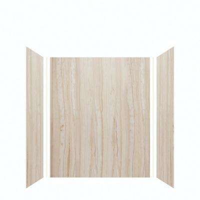 Expressions 32 in. x 60 in. x 72 in. 3-Piece Easy Up Adhesive Alcove Shower Wall Surround in Sorento