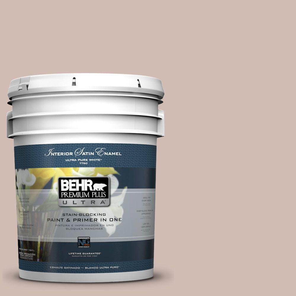 BEHR Premium Plus Ultra 5-gal. #ECC-28-1 Summer Bloom Satin Enamel Interior Paint