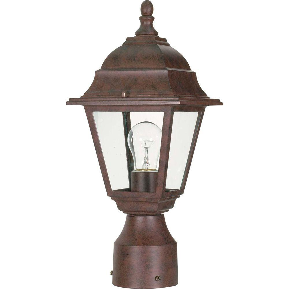 Glomar 1-Light Old Bronze Outdoor Incandescent Post Light