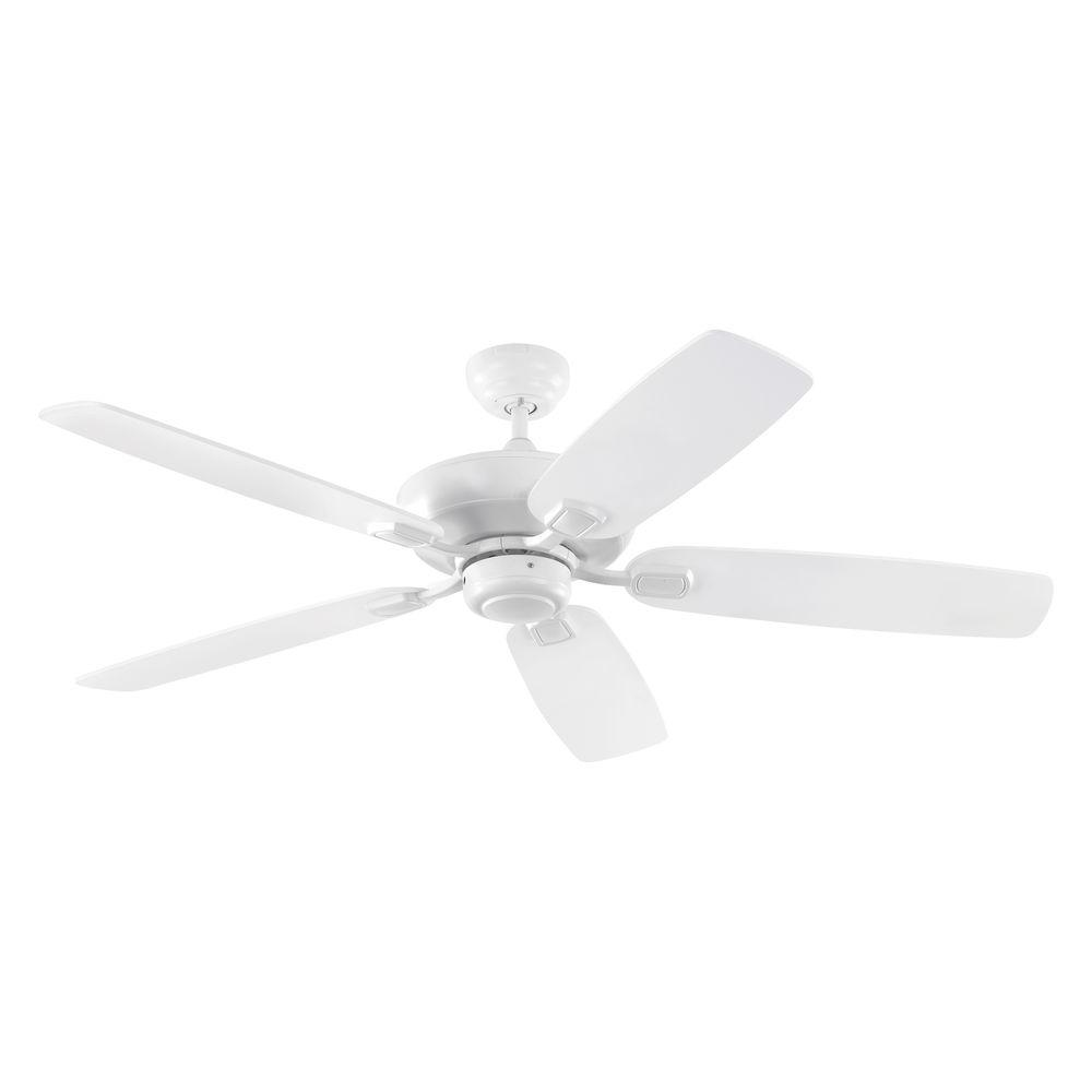 Monte Carlo Colony Max Plus 52 In Indoor Outdoor Rubberized White Ceiling Fan