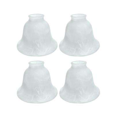 4-1/2 in. Faux Alabaster Bell Shaped Ceiling Fan Replacement Glass Shade (4-Pack)