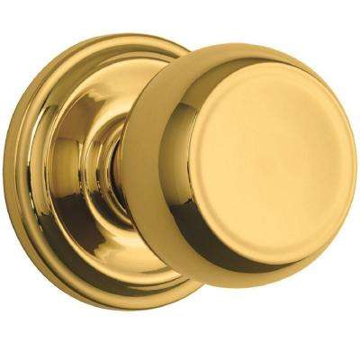 Stafford Polished Brass Passage Push Pull Rotate Door Knob